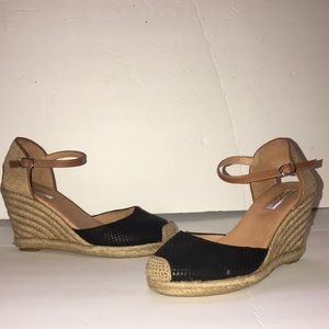 Halogen wedges Black and Tan size 6
